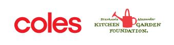 Coles and Stephanie Alexander Kitchen Garden Foundation logos