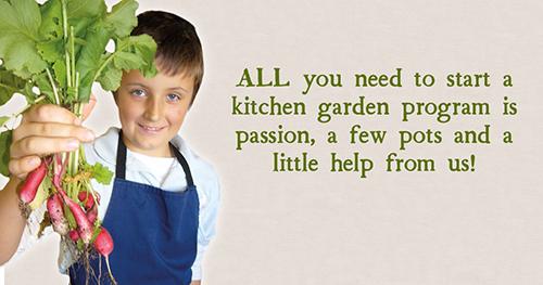 Start a kitchen garden program