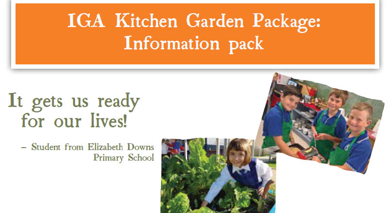 Iga Retailers Pitching In To Fund New Kitchen Garden Package