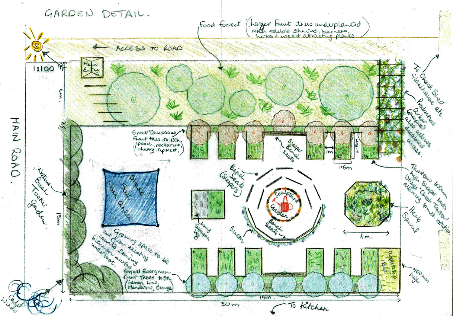Garden design examples pictures vertical home garden for Small garden layouts designs